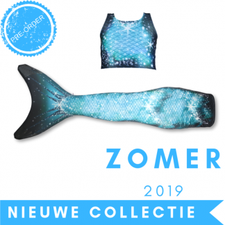 Zeemeermin staart 2019 Sparkle Splash met topje en monovin