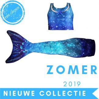 Zeemeermin staart 2019 - Star of the Sea Blue met topje en monovin