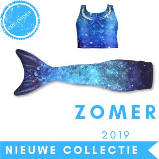 Zeemeermin staart 2019 - Star of the Sea Blue met topje en monovin
